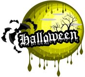 Halloween background with bats Stock Photo
