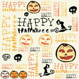 Halloween background with bats and pumpkin. Royalty Free Stock Photos