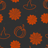 Halloween background. Halloween black and orange background Stock Photography