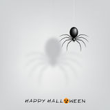 Halloween background with black spider Royalty Free Stock Images
