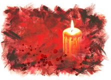 Halloween background with bloody candle Stock Image