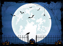 Halloween background with blue Moon Royalty Free Stock Photography