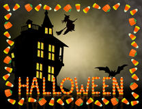 Halloween Background Candy Corn stock photos