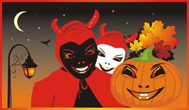 Halloween. Background for card Stock Photos