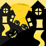Halloween. Background cartoon comics drawing equipment Royalty Free Illustration