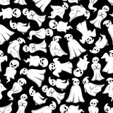 Halloween background with cartoon ghosts Royalty Free Stock Image