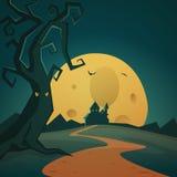 Halloween Background. Cartoon Halloween background vector illustration Royalty Free Stock Photos