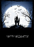 Halloween background with castle Stock Image