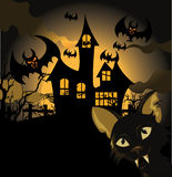 Halloween background with cat Royalty Free Stock Photography