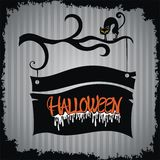 Halloween background with cat Stock Photo
