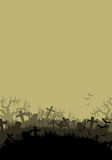Halloween background with cementer Stock Photography
