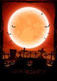 Halloween background with cemetery Royalty Free Stock Photography