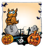 Halloween background. Cemetery halloween  background   vetcor project Royalty Free Stock Images