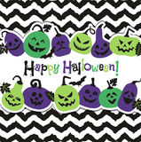 Halloween background of cheerful pumpkins.Autumn abstract background. Stock Images