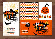 Halloween background of cheerful pumpkins.Autumn abstract background. Royalty Free Stock Photography