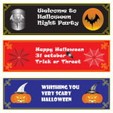 Halloween Background on Chinese Frame Horizontal line Stock Images