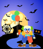 Halloween background with Clown Stock Images
