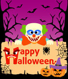 Halloween background with Clown vector Stock Image