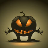 Halloween background with creepy pumpkin Royalty Free Stock Images