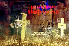 Halloween background with crosses and texture.. Halloween background with crosses and texture Royalty Free Stock Photo