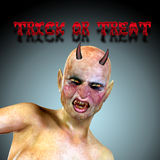 Halloween background with 3d  devil Royalty Free Stock Photos