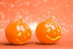 Halloween background concept. jack O pumpkin faces bright colorful orange backdrop. Halloween background decor holiday concept. jack O pumpkin faces bright royalty free stock images