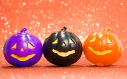 Halloween background concept. jack O pumpkin faces bright colorful orange backdrop. Halloween background decor holiday concept. jack O pumpkin faces bright stock photo