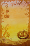 Halloween background design by watercolor Royalty Free Stock Photos