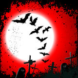 Halloween background - destroyed cemetery Royalty Free Stock Images