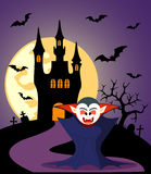 Halloween background with Dracula Stock Image