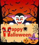 Halloween background with Dracula vector Royalty Free Stock Photos