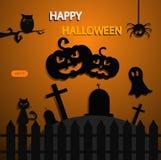 Halloween background eps 10 orange Royalty Free Stock Image
