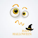 Halloween background.The eyes of the monster ,hat Stock Photo