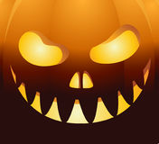 Halloween background with face pumpkin Stock Image