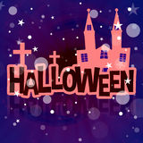 Halloween Background Festive. Graphic design illustration Stock Image