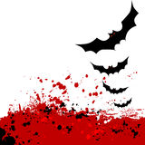 Halloween background. Flying bats. Stock Image