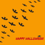 Halloween background with flying bats Stock Images