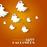Halloween Background with flying Boo Ghost Stock Photography