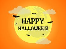 Halloween background with full moon royalty free stock photography