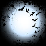 Halloween background with a full moon and bats Royalty Free Stock Photos