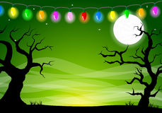 Halloween background with a full moon night Royalty Free Stock Images
