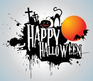 Halloween background with full orange moon Royalty Free Stock Photography