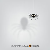 Halloween background with funny black spider Royalty Free Stock Photos