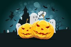 Halloween Background with Ghost royalty free illustration