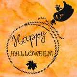 Halloween background with a ghost . Greeting card or  e Stock Photography