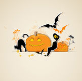 Halloween  background with ghost Royalty Free Stock Images
