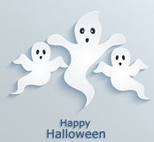 Halloween background with ghosts. Stock Images