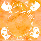 Halloween background . Greeting card or  elements for y Royalty Free Stock Photo