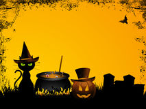 Halloween background with grunge Stock Image