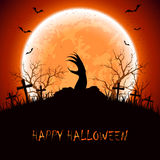 Halloween background with hand Stock Image